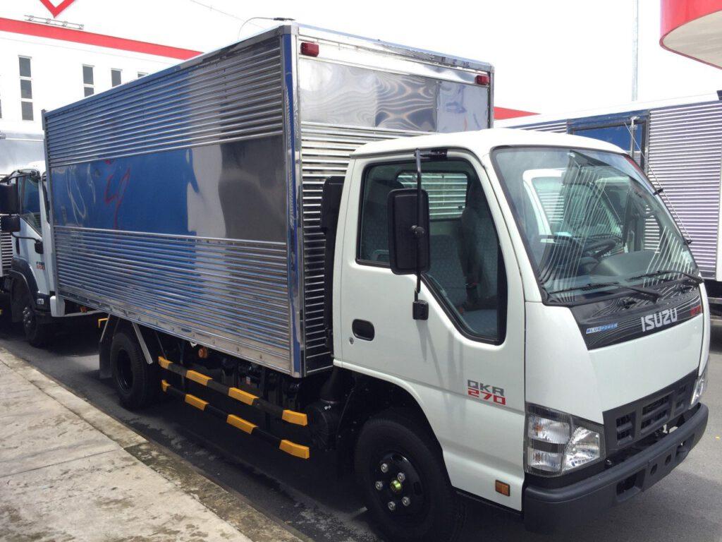 xe tải isuzu 2t4 - thùng kín - thùng bửng nâng hạ - thùng mui bạt - thùng lửng